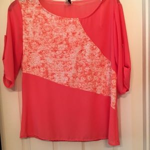 Beautiful Coral Blouse